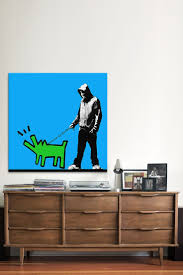 25 best banksy canvas ideas on pinterest banksy canvas prints choose your weapon keith haring dog by banksy canvas print