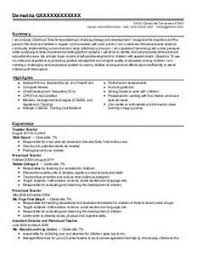 Resume Examples For Child Care by Resume Example For A Full Time Job With Essential Information