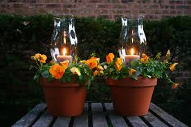 Outdoor Candle Lighting by Potted Candle Planters Family Chic By Camilla Fabbri 2009 2015