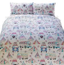 campervan gift shabby chic campervan duvet and pillow case set