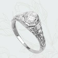 antique art deco rings engagement ring melbourne sydney vintage