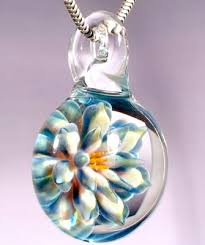 making glass necklace pendants images Allison hill glass flower pendant 2 jewelry making journal jpg