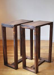 this listing is for a set of 2 reclaimed wood side tables stained