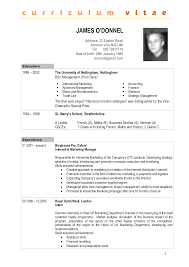 curriculum vitae template free format of a cv resume free resume exle and writing download
