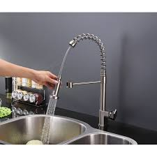 commercial style kitchen faucets ruvati rvf1216st commercial style pullout spray kitchen faucet