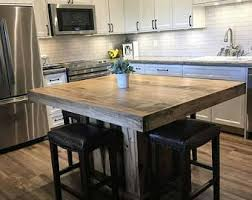wooden kitchen island table kitchen island etsy