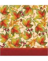 great deal on thanksgiving splendor plastic tablecloth multi