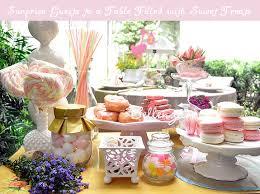 tea party themed bridal shower a garden themed table for a bridal shower tea party