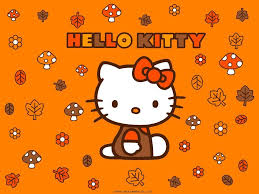 halloween kitties background hello kitty fall wallpapers wallpaper cave
