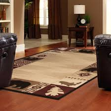 Moose Area Rugs Rustic Area Rugs Angola Mocha Tibetan Handmade Area Rug With Dots