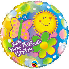 get well soon balloons delivery feel better soon balloons pointe get well balloons free