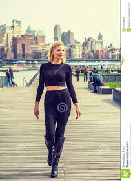 New York Travelers Stock images Eastern european woman traveling in new york stock photo image jpg
