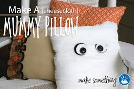 craft projects mummy pillow with dritz cheesecloth