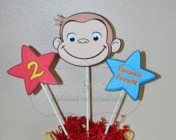curious george cake topper monkey on mountain of bananas cake topper