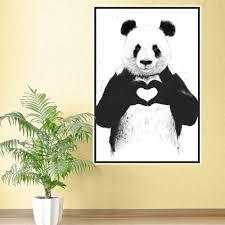 Window Wall Mural Highlands Peel Love Panda Wall Sticker Decal By Balazs Solti