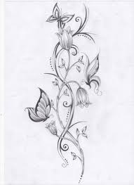flower vine and butterfly tattoos tattoos tattoos