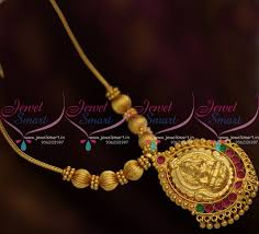 gold short chain necklace images Nl8458 traditional gold design temple pendant beads roll kodi JPG