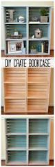 Diy Bookcase Door The 25 Best Crate Bookshelf Ideas On Pinterest Desk To Vanity