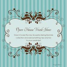 Open House Invitations Pam U0027s Open House Jewelry Trunk Show Online Invitations U0026 Cards By