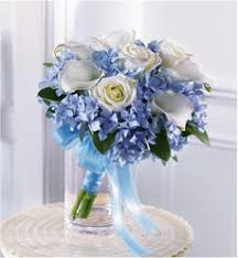 blue wedding bouquets wedding flower colors big rapids michigan patterson s flowers inc