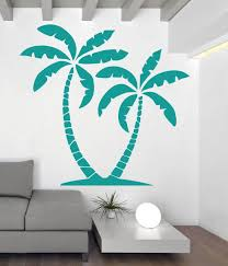 ocean wall decals vinyl sticker decor palm tree wall decal beach party decor turquoise