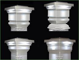lighting fence post solar light caps 5x5 maine ornamental solar