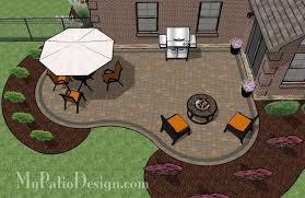 Backyard Paver Patio Designs Pictures Cozy Curvy Paver Patio Design Layouts U0026 Material List