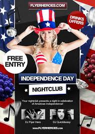 dowload the 4th july independence day free flyer template