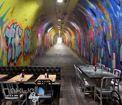 3d graffiti tunnel buniess office wall murals wallpaper wall art 3d graffiti tunnel buniess office wall murals wallpaper wall art decals prints idcwp ty