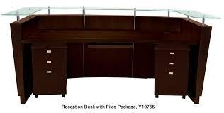 Mobile Reception Desk Top Walnut Veneer Welcome Desk W Mobile Files