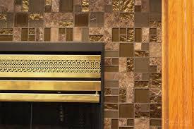 Mosaic Tile Fireplace Surround by Glass Mosaic Tiled Fireplace Precision Floors U0026 Décor