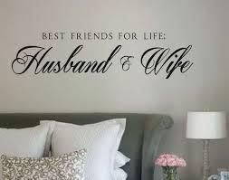 Vinyl Wall Decals For Bedroom Vinyl Wall Decal Best Friends For Life Husband U0026 Wife Vinyl