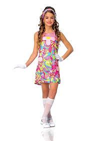 amazon com kids girls costume 60s 70s groovy dress m