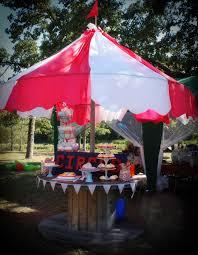 diy carnival party big top tent southern revivals