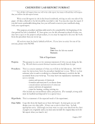 sample report format lab report example chemistry sample apa style sample apa citation page