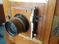 appareil photo chambre appareil photo chambre photographique objectif berthiot xix ème plaque