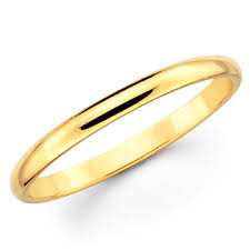 10k solid yellow gold 2mm plain men s and women s wedding band