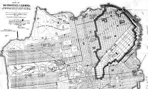Map From San Francisco To Napa Valley by Map Of The City Of San Francisco Showing Streets Public Parks
