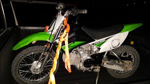 kawasaki klx 110 choke fix bike reassemble and running from a car