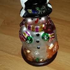 best pacconi classics handblown glass snowman for sale in
