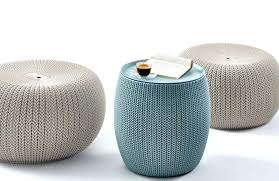 Knitted Ottoman Small Ottoman Foot Stool Cfresearch Co