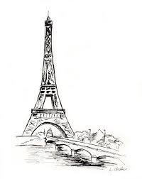 eiffel tower ink drawing by laurachafer on deviantart