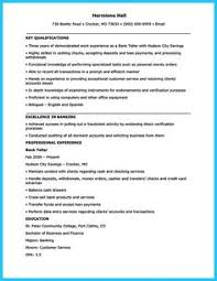 Sample Banker Resume by Awesome Learning To Write From A Concise Bank Teller Resume Sample