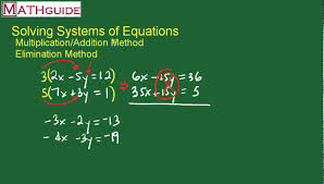 systems of equations multiplication addition method