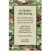 troops u0026 camo kids birthday party invitations