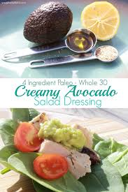 paleo avocado salad dressing 1 avocado 1 t olive oil 1 t garlic