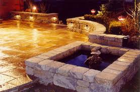 Outside Patio Lights Landscaping Outdoor Living Spaces Portfolio Southern Scape