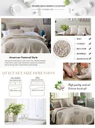 King Size Coverlet Sets Amazon Com Quilts King Size 100 Cotton Solid Champagne Modern 3d