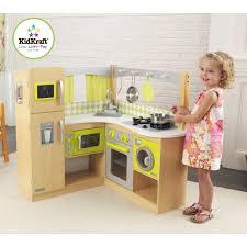 kidkraft cuisine jouets des bois cuisine en bois d angle vert et naturel kidkraft