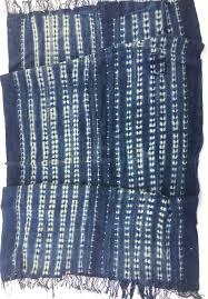 indigo mud cloth vintage african shibori fabric boho home decor
